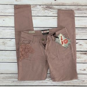 NWT HOT KISS Dusty Rose Skinny Jeans